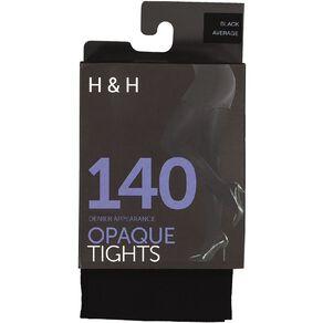 H&H Women's 140 Denier Opaque Tights 1 Pack