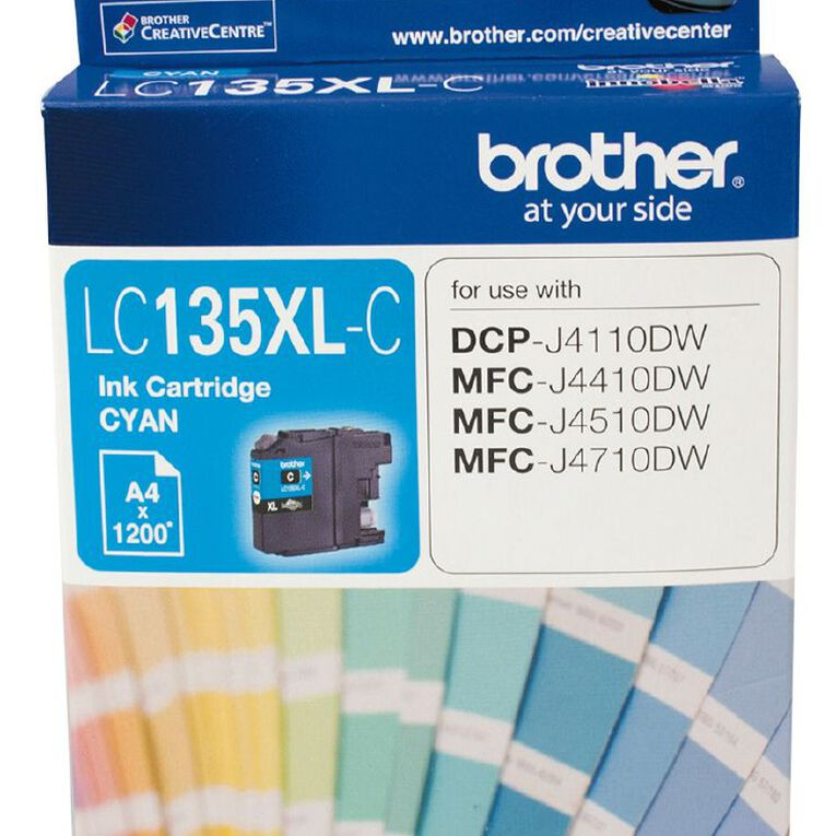 Brother Ink LC135XL Cyan (1200 Pages), , hi-res