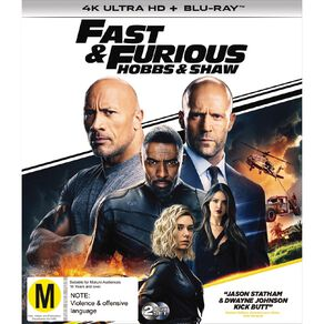 Fast & Furious Presents Hobbs And Shaw 4K Blu-ray 2Disc