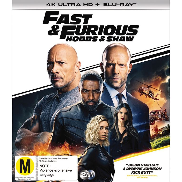 Fast & Furious Presents Hobbs And Shaw 4K Blu-ray 2Disc, , hi-res