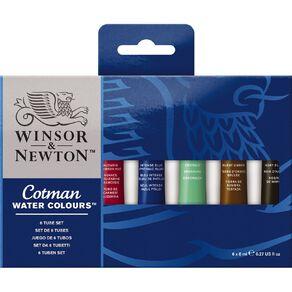 Winsor & Newton Cotman Water Colour Set of 6 8ml Tubes Multi-Coloured