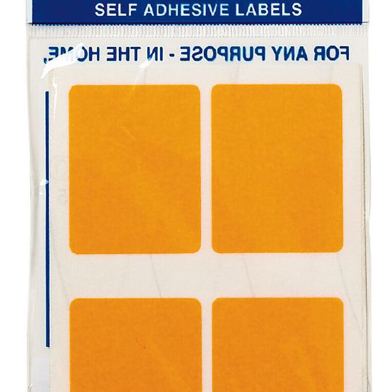 Quik Stik Labels Mr3545 28 Pack Fluoro Orange, , hi-res