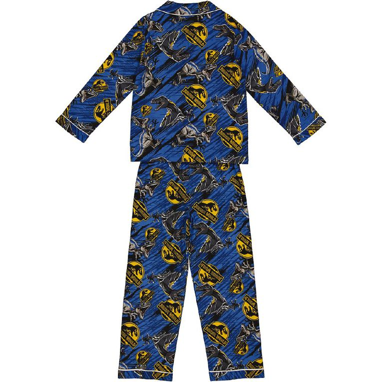 Jurassic World Boys' Flannelette Pyjamas, Blue, hi-res