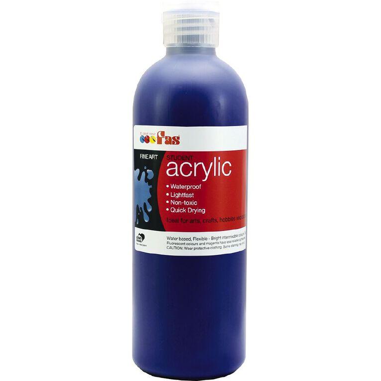 FAS Paint Student Acrylic Blue 500ml, , hi-res