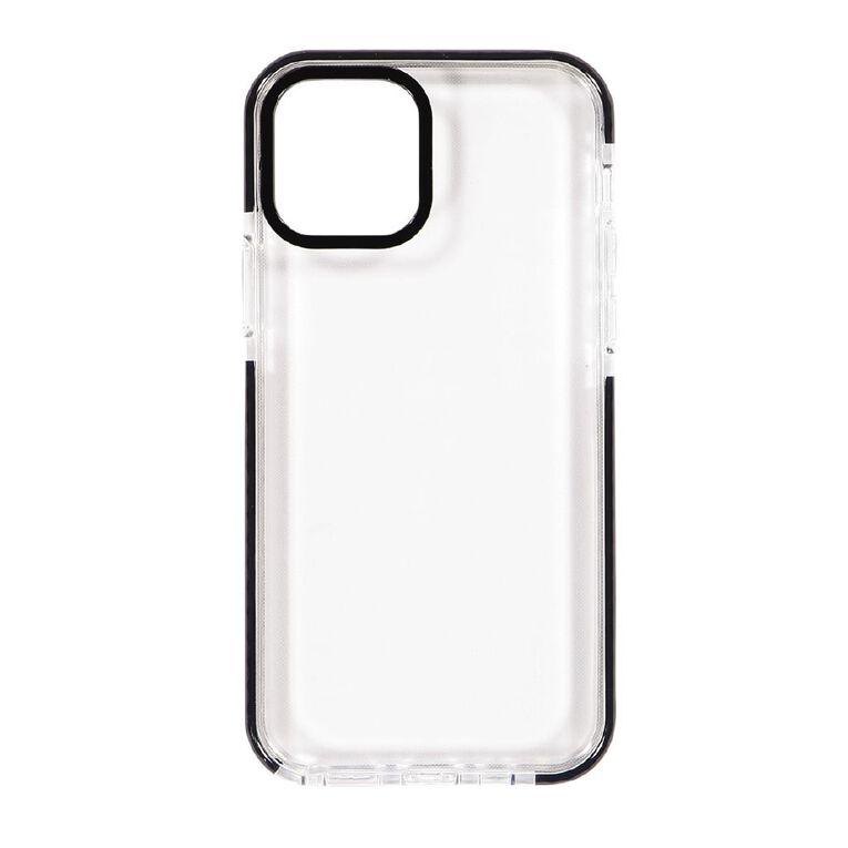 Tech.Inc iPhone 12 & 12 Pro Clear TPU Case Black Frame, , hi-res
