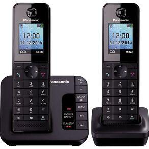 Panasonic Kx-Tgh222Azb Twin Cordless Phone Black