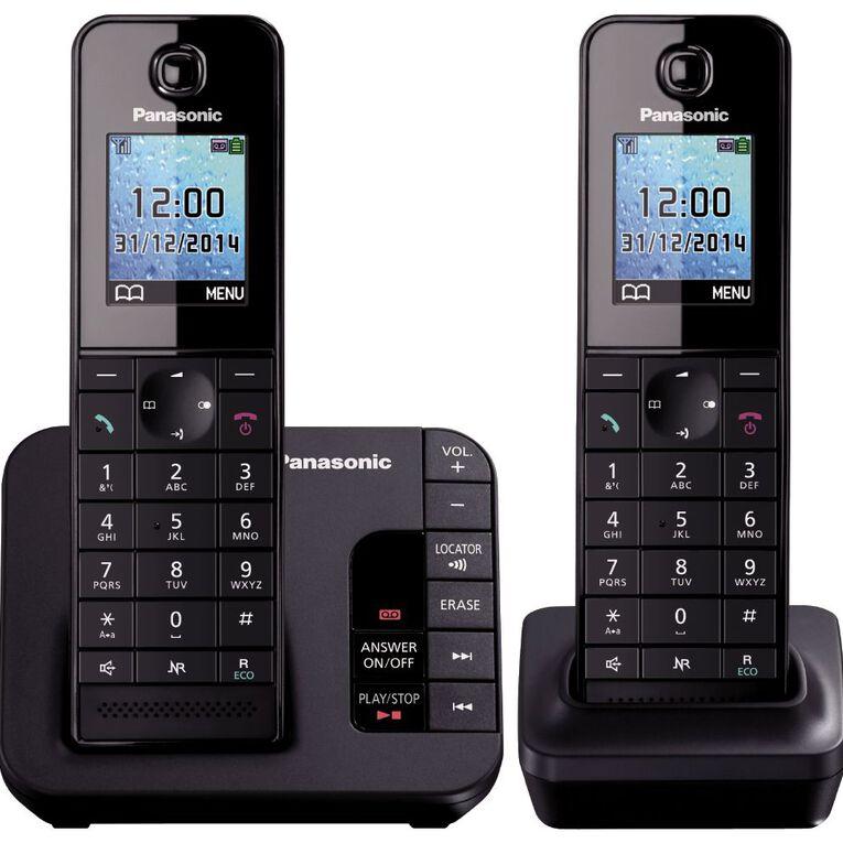 Panasonic Kx-Tgh222Azb Twin Cordless Phone Black, , hi-res