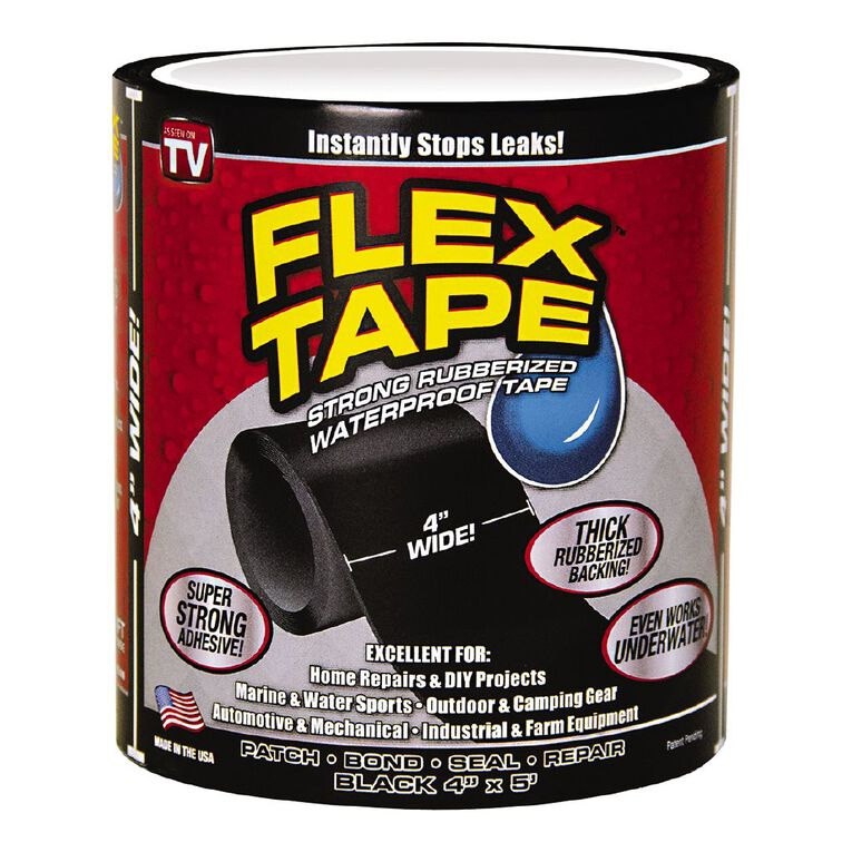 As Seen On TV Flex Tape Black 4 x 5 in Black, , hi-res