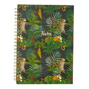 Disney Jungle Book Hardcover Spiral Notebook Green A4