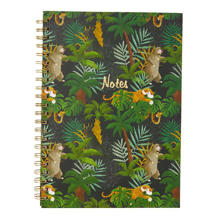 Disney Jungle Book Hardcover Spiral Notebook Green A4, , hi-res image number null