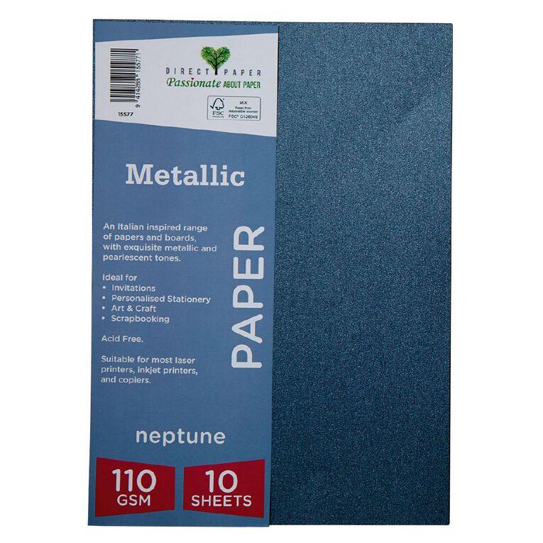 Direct Paper Metallic 110gsm 10 Pack Neptune A4, , hi-res