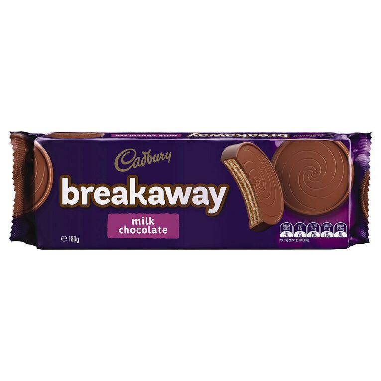 Cadbury Breakaway Milk Chocolate 180g, , hi-res