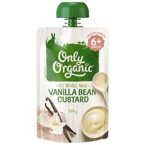 Only Organic Stage 2 Custard Vanilla Bean 120g