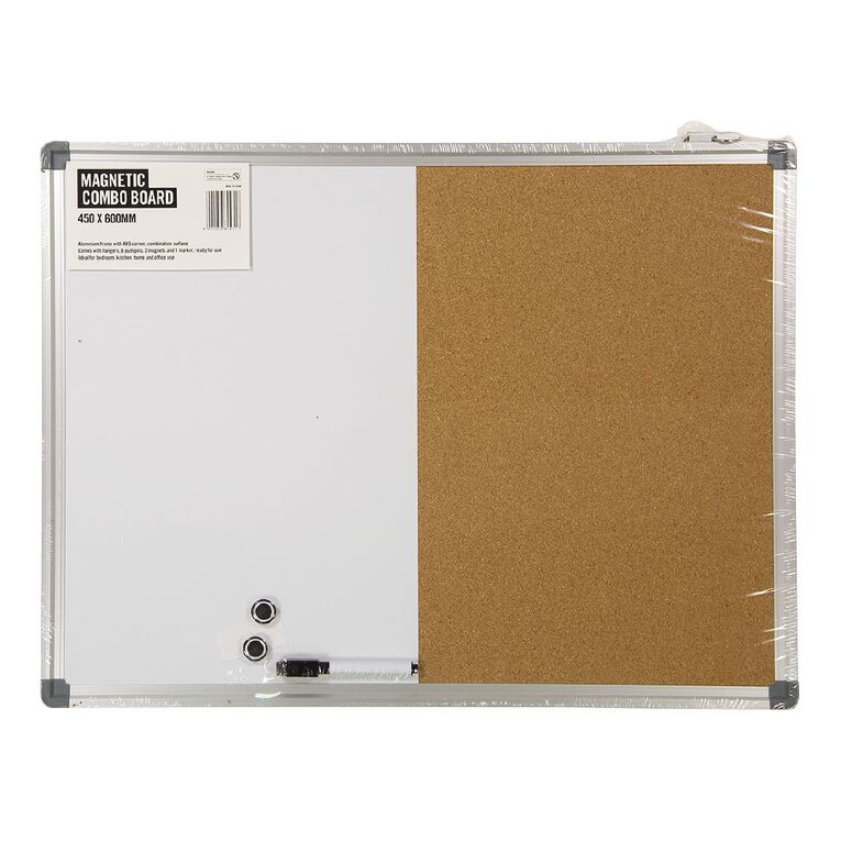 Magnetic Combo Board 450 x 600mm, , hi-res