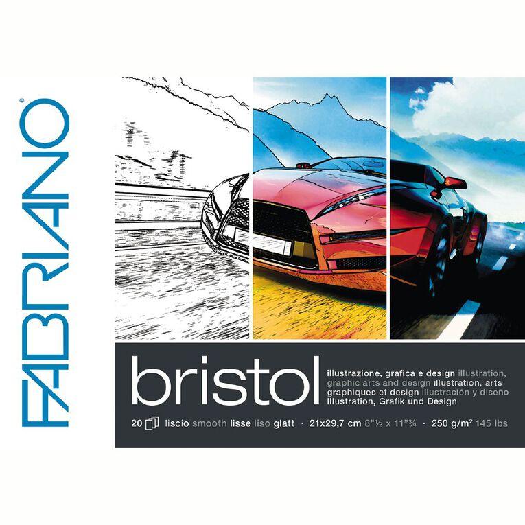 Fabriano Bristol Pad 250gsm A4, , hi-res