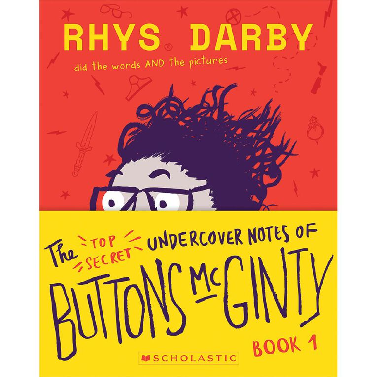The Top Secret Undercover Notes of Buttons McGinty by Rhys Darby N/A, , hi-res