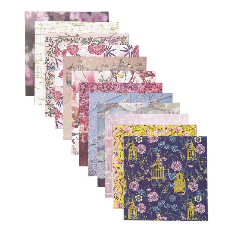 Uniti Oriental Floral Paper Pad 24 Sheets 6in x 6in, , hi-res