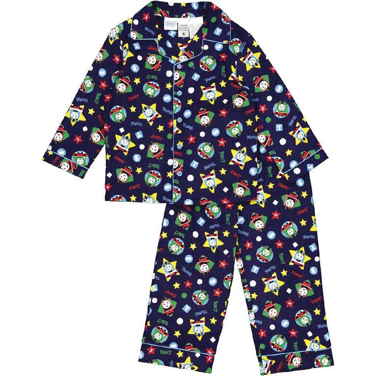 Thomas The Tank Engine Kids' Flannelette Pyjamas, Navy, hi-res