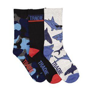 Tradie Tradie Boys' Fashion Crew Socks 3 Pack