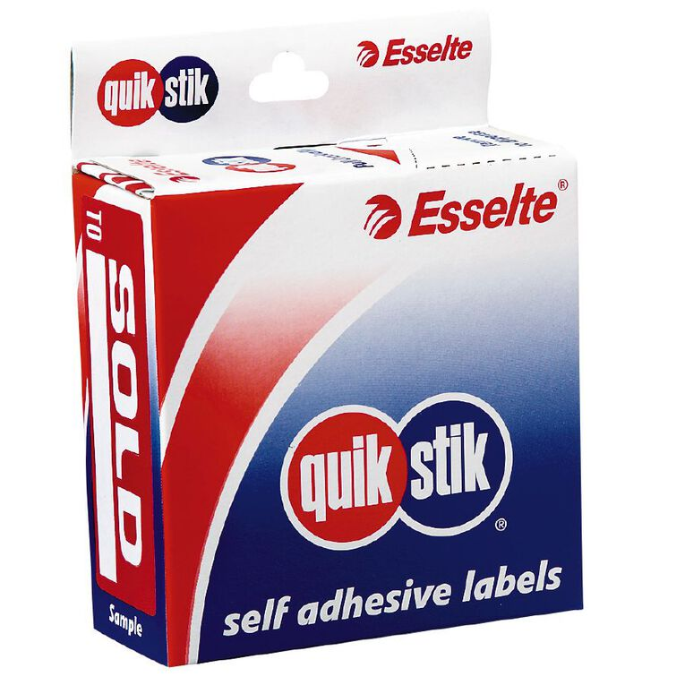 Quik Stik Labels Sold To Removable 160 Pack Red, , hi-res