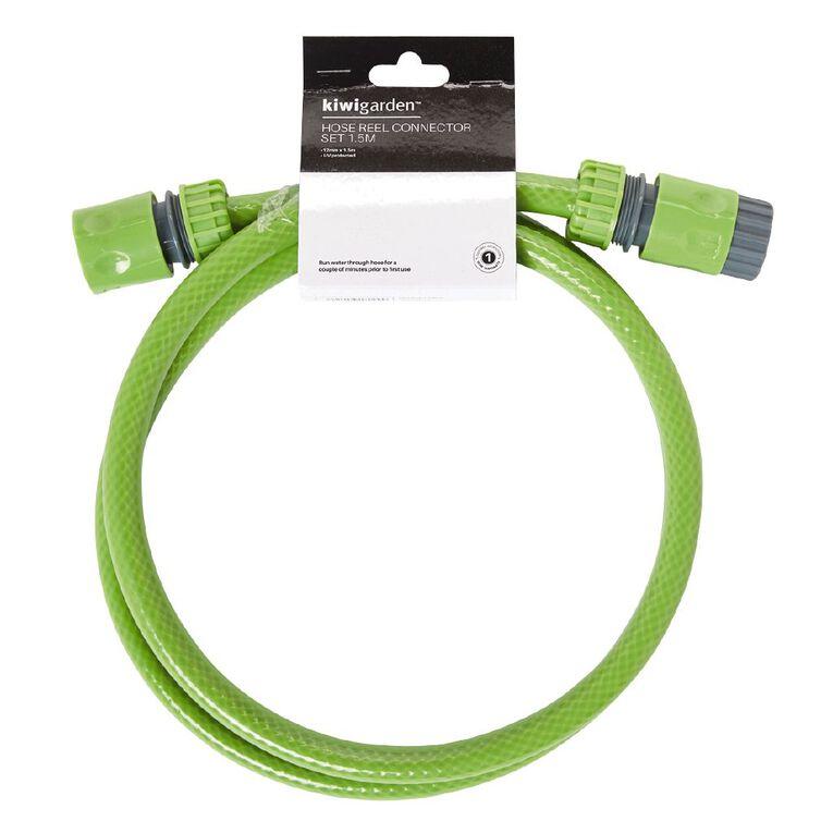 Kiwi Garden Hose Reel Connector Green 1.5m, , hi-res