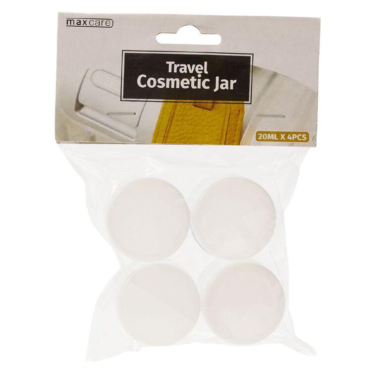 Maxcare Travel Cosmetics Jar 4 Pieces 20ml, , hi-res