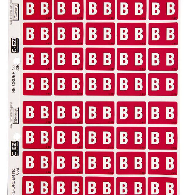 Filecorp Coloured Labels B Red, , hi-res