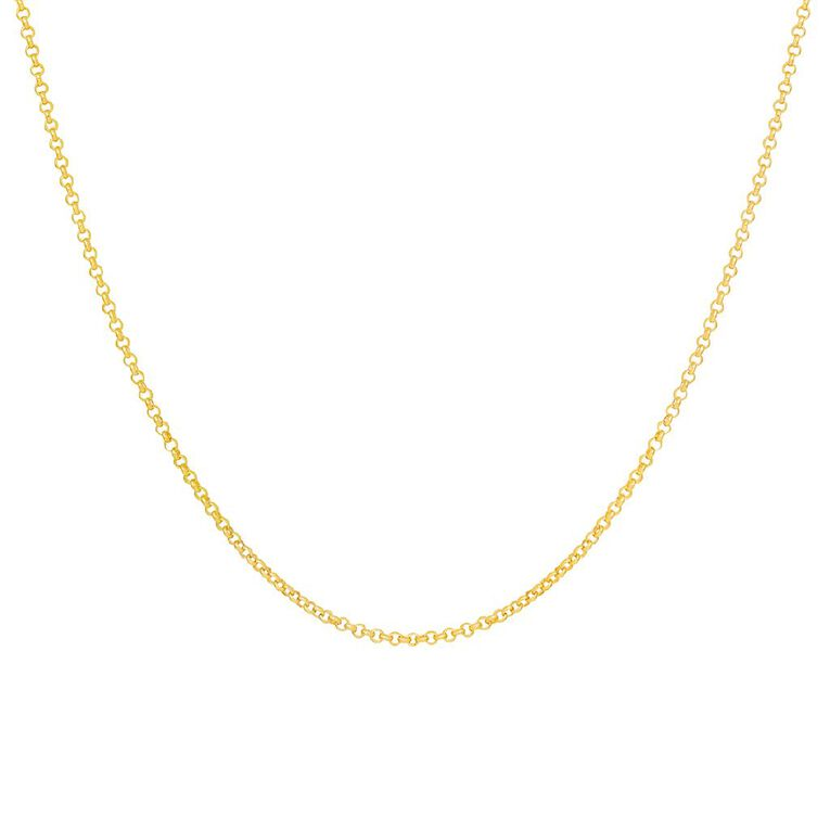 9ct Gold Oval Belch Chain 50cm, , hi-res