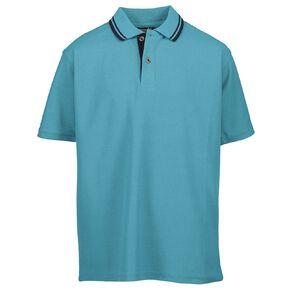 Schooltex Childs' Short Sleeve Stripe Collar Polo