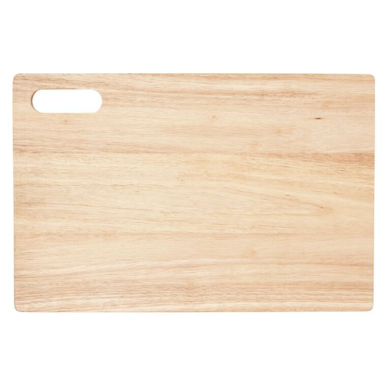 Living & Co Rubber Wood Chopping Board 46cm, , hi-res