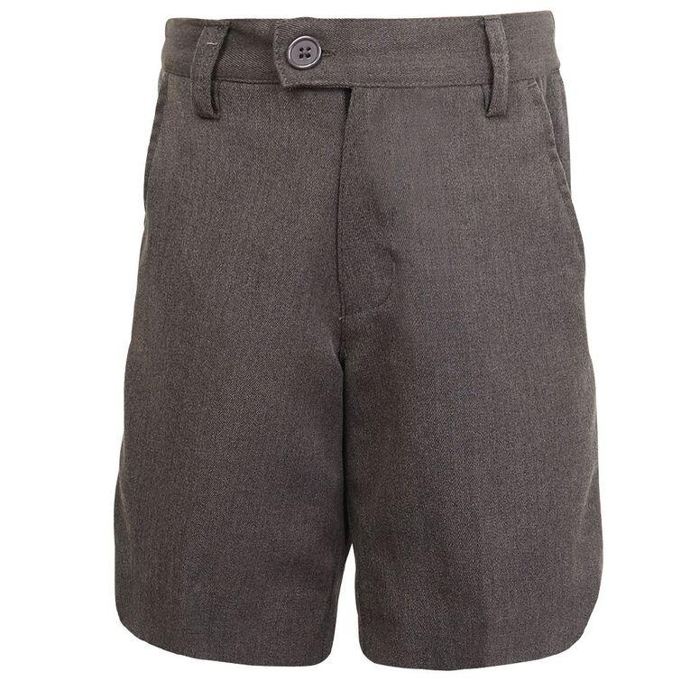 Schooltex Boys' Winter Zip Shorts, Grey Dark, hi-res