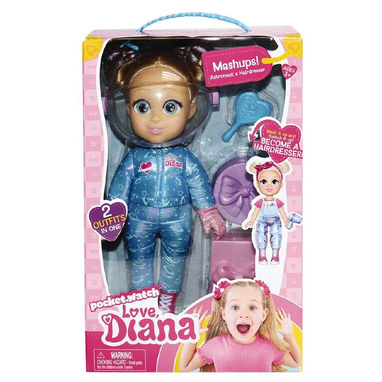 Love Diana Mashup Astronaut / Hairdresser Doll 13 Inch, , hi-res