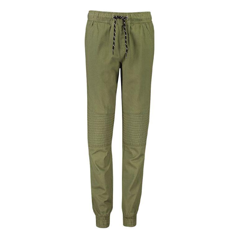 Young Original Pintuck Cuff Chino Pants, Green Mid, hi-res