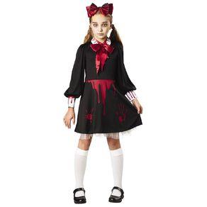 Seasons Zombie Babydoll Costume 8-10