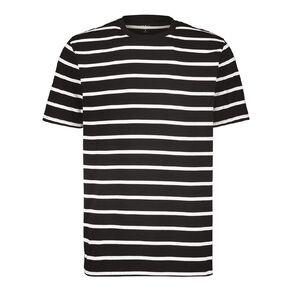 H&H Men's Crew Neck Short Sleeve Stripe Tee