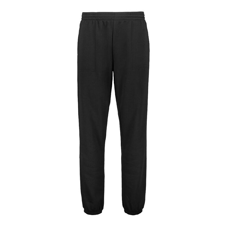 H&H Men's Plain Trackpants, Black, hi-res