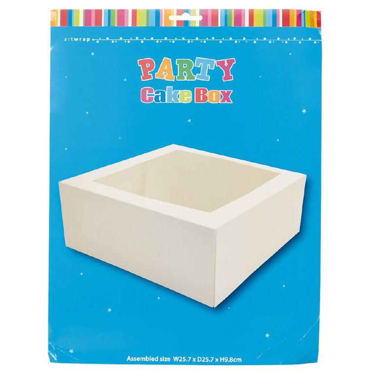 Artwrap Cake Box 25.9cm x 25.9cm x 10cm, , hi-res