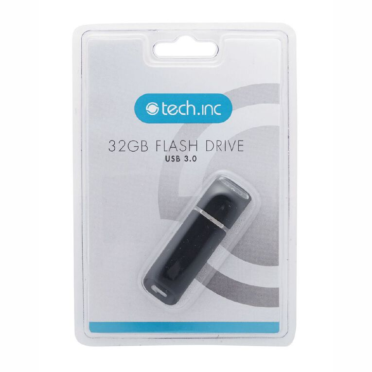 Tech.Inc 32GB USB3.0 Flash Drive Black, , hi-res