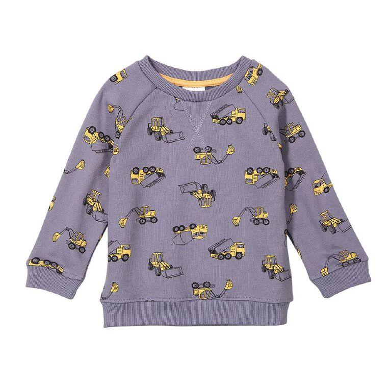 Young Original Toddler Printed Raglan Sweatshirt, Blue Mid, hi-res