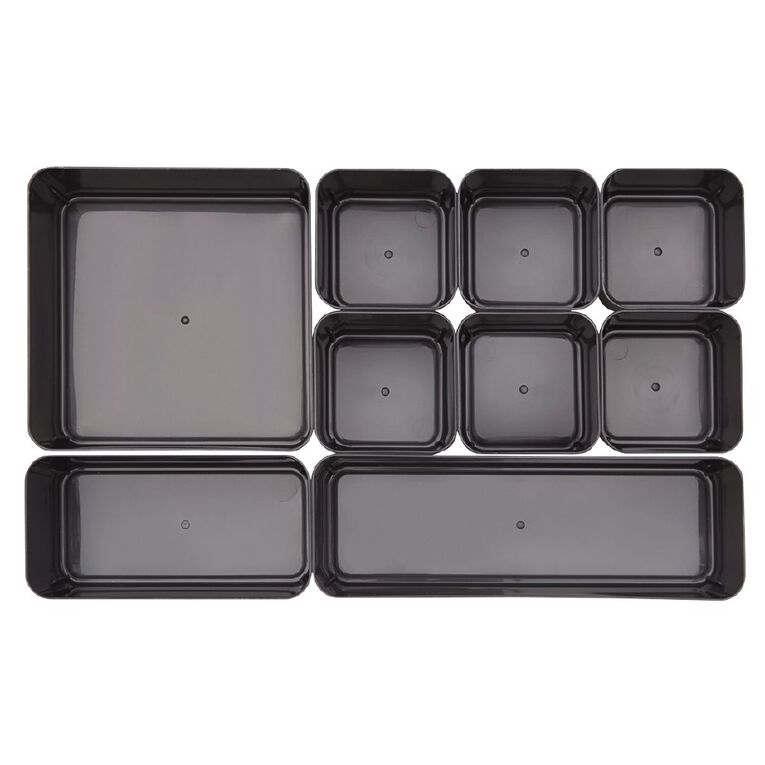 Living & Co Storage Container with Shallow Cups & Insert Tray Clear 5.6L, , hi-res