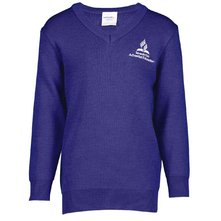 Schooltex Balmoral SDA Jersey with Embroidery, Bright Blue, hi-res