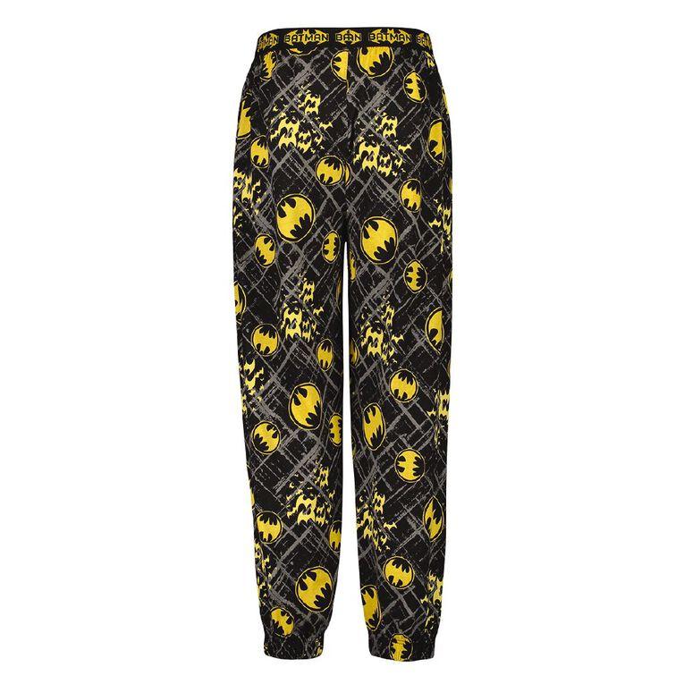 Batman Men's Knit Pyjama Pants, Black, hi-res