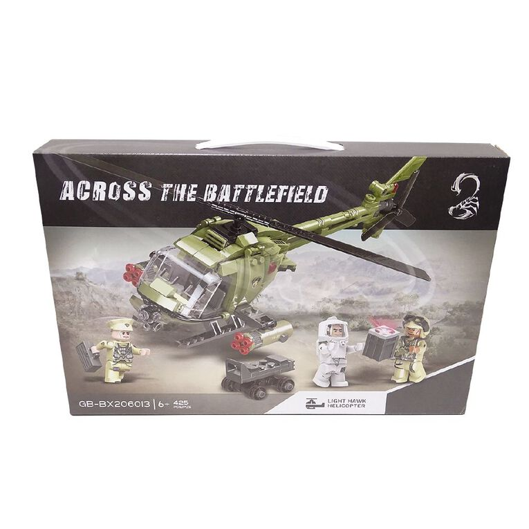 Across the Battlefield Helicopter 364 Pieces Building Bricks, , hi-res