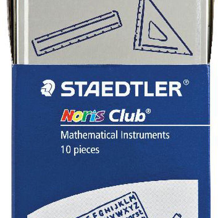 Staedtler Noris Club 10 Piece Math Set Multi-Coloured, , hi-res