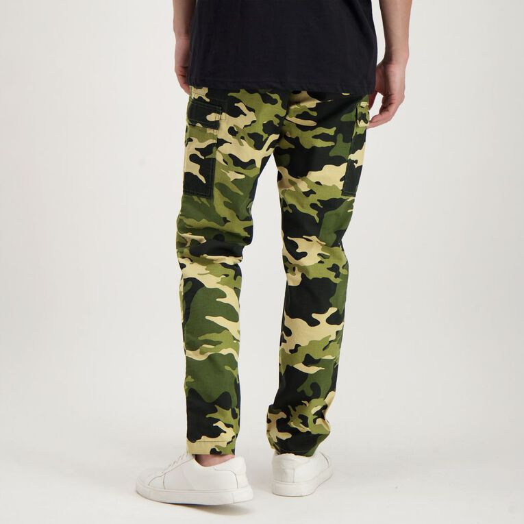 Garage Men's Ripstop Cargo Pants, Khaki, hi-res