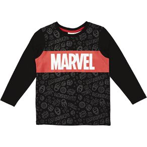 Marvel Long Sleeve Print Tee