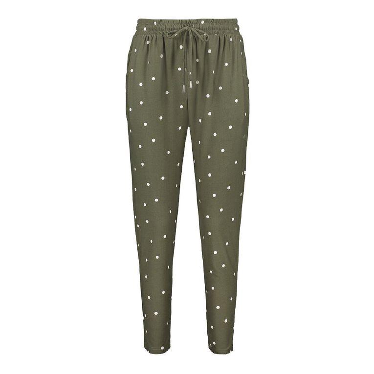 H&H Women's Stretch Harem Pants, Khaki, hi-res