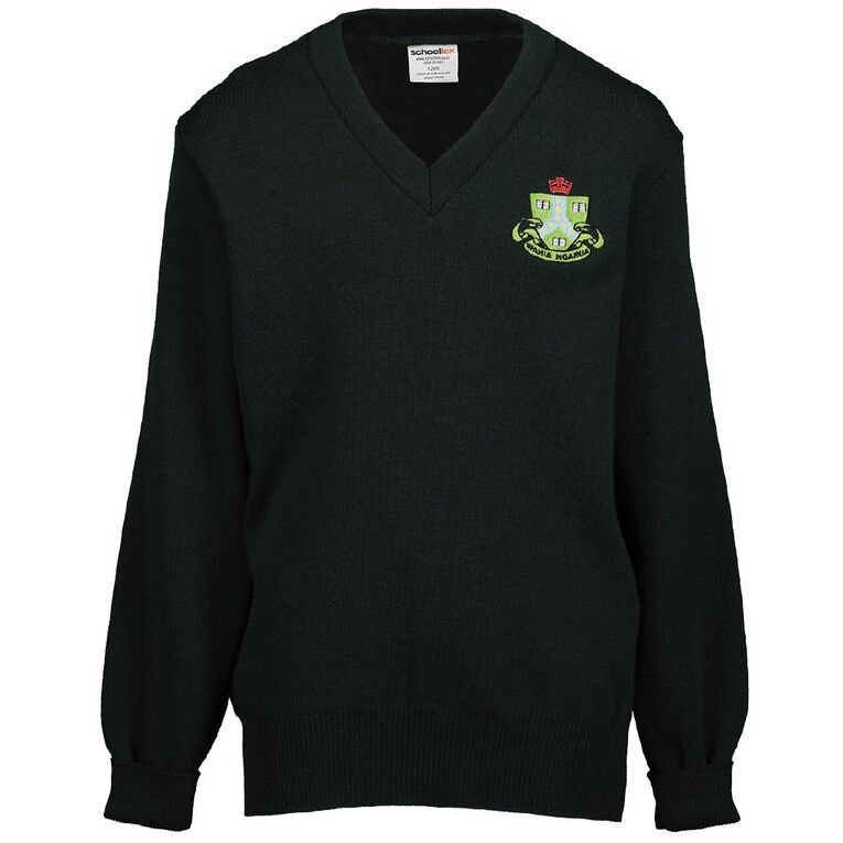 Schooltex Ngaruawahia Jersey with Embroidery, Bottle Green, hi-res