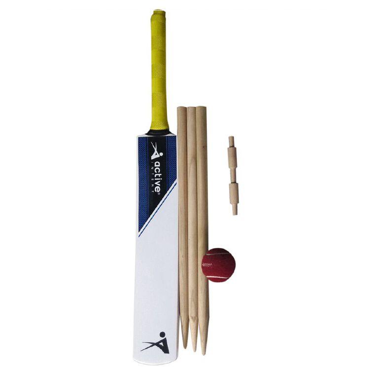 Active Intent Sports Wooden Cricket Set Size 5, , hi-res