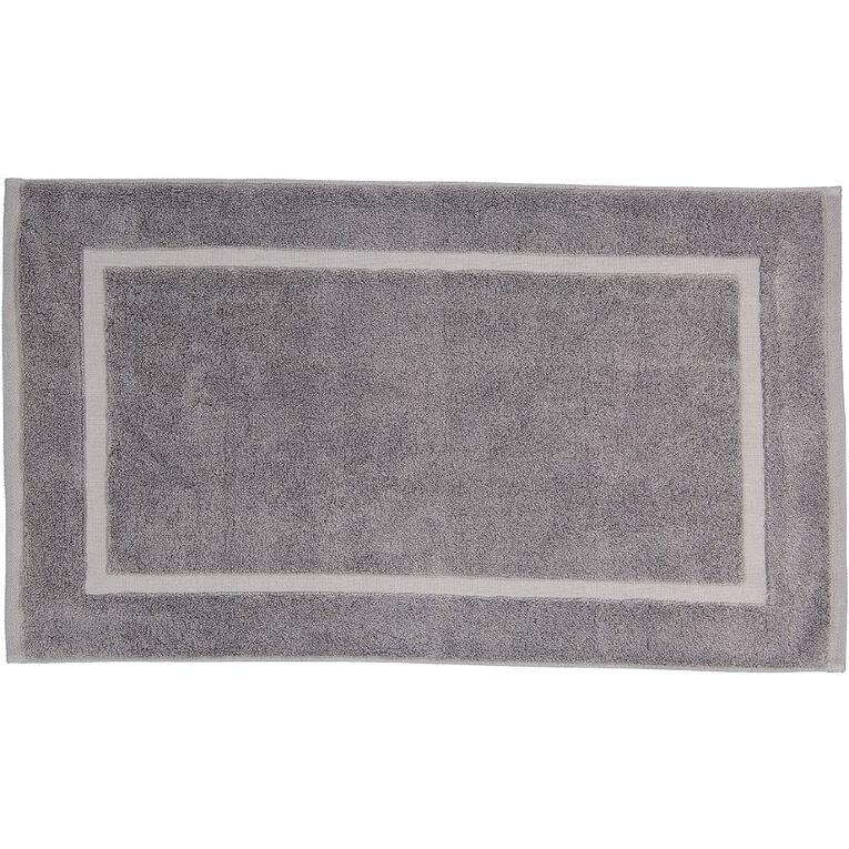 Living & Co Montreal Bath Mat Alloy Grey 45cm x 75cm, Grey, hi-res